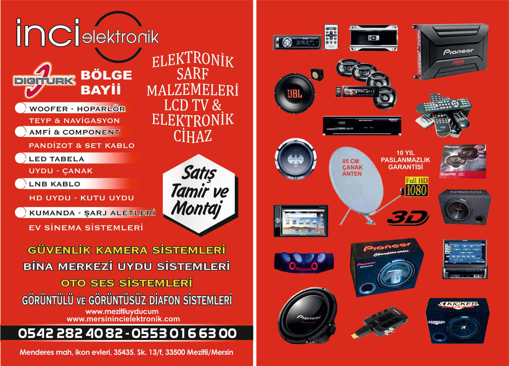 mersin elektronikçiler inci elektronik