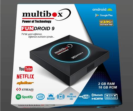 Multibox Fundroid 9 Android Uydu Alıcısı