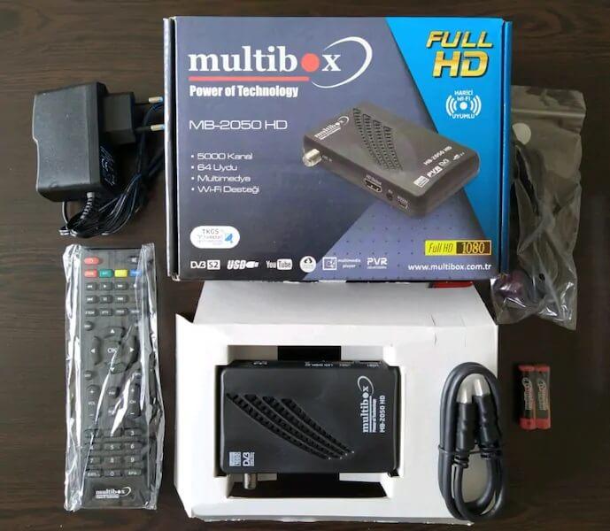 Multibox 2050 Mini HD Uydu Alıcı KUTU İÇERİĞİ